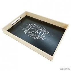 Декоративный поднос HOME (32*27 см) черный арт.008542