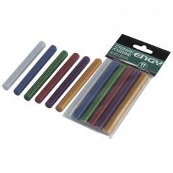 Стержни клеевые цветные, с блестками,1,1х10см, 6 шт арт.007587