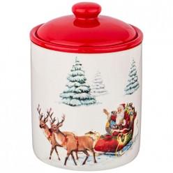 Банка для сыпучих продуктов коллекция Новогодняя сказка 850 мл 12*12*16,8 см 230-322