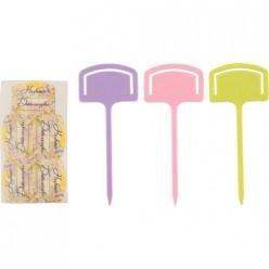 Таблички садовые с наклейками (набор 10шт) арт.008645