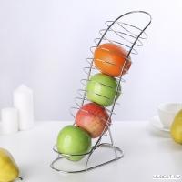 Ваза для фруктов Вертикаль 20х10х33 см арт.3780792 Доляна