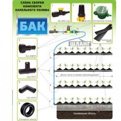Комплект капельного полива с контроллером КПК-24К г.Самара
