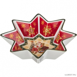 Салатник Christmas collection диаметр=25,5 см. высота=5 см. 586-128