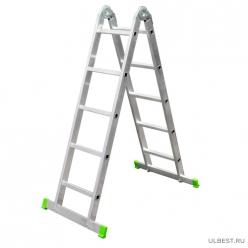 Лестница алюминиевая-трансформер 2*6