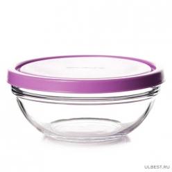 Салатник закал.с розовой пласт.крышкой ШЕФС 2 шт.172 мм 53563BT/D2