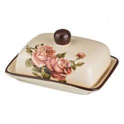 Масленка корейская роза 17*12*10 см. 358-460