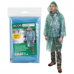 Дождевик-плащ Ecos на липучках, 40 мкм ПВД р-р 48-54,XXL арт.003932