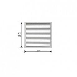 Решетка радиаторная белая 0.6*0.6