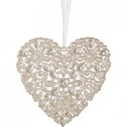 Изделие декоративное Сердце высота=12.5 см (мал=24шт./кор=144шт.) 788-061