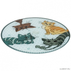 Тортовница вращающаяся Озорные коты диаметр=32 см высота=3 см 357-156