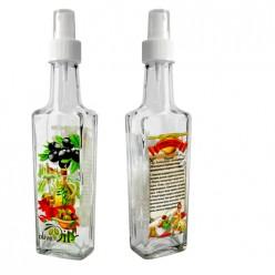 Бутылка с кнопочным распылителем для оливковог масла с чесноком, 250 мл, стекло 626574