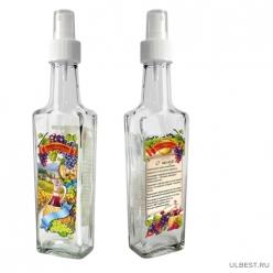 Бутылка с кнопочным распылителем для бальзамического уксуса, 250 мл, стекло 626578