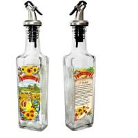 Бутылочка с пл. дозатором для подсолнечного масла, 250 мл, стекло 626587