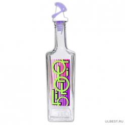 Бутылка для масла с пл. самооткрывающимся дозатором, ЛАВАНДА, 500 мл, стекло 6261002