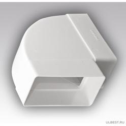 Колено горизонтальное пластик 90° 60х204 620КГП