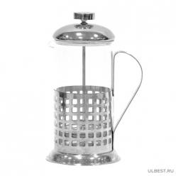 """Чайник/кофейник (кофе-пресс) """"Клетка"""" (Сellula) B511-600ML (сталь) 950004 аналог 950138"""
