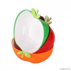 """Салатник """"Яблочный рай"""" 2л (зеленый) (уп.20) М6176"""