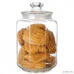 Стеклянная банка для сыпучих продуктов с крышкой LATTINA, объем: 3 л, тм Mallony арт.003605