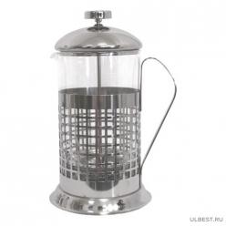 """Чайник/кофейник (кофе-пресс) """"Клетка"""" B511-1000ML (Сellula) (сталь) 950064"""
