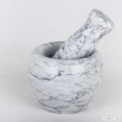 Ступка с пестиком из натуральн. камня 10х8см KR293