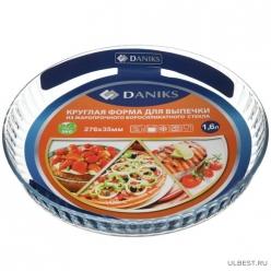 Форма для выпечки жар 1,6л круг 27,6*3,5см DANIKS, OCT-NR2311/DNX-16C