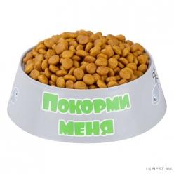 """Миска для кошек """"Барсик"""" 0,2л (серый) (уп.30) М6935"""