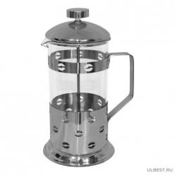 """Чайник/кофейник (кофе-пресс) """"Кофе"""" (Caffe) B535-800ML (сталь) 950082"""