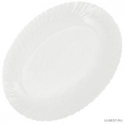Стк БЕЛОЕ Блюдо овал 30,2 см ДАНИКС