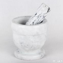 Ступка с пестиком из натуральн. камня 10х11см KR296