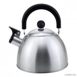 Чайник из нерж. стали MAL-039-MP, 2,5 литра, матовый, со свистком 310097
