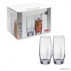 Набор стаканов HISAR 6 шт. 220 мл (вода) арт.42858B