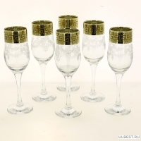 Бокалы для шампанского 6 шт с узором Барокко GE63-160/S