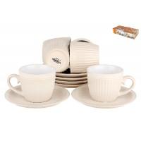Набор чайный  Коралл Верона крем 250мл 6 персон