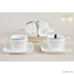 Набор чайный Коралл Снежная королева квадрат 240мл 6 персон