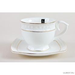 Пара чайная 280мл Коралл Снежная королева круг