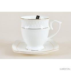 Пара чайная высокая 340мл Коралл Снежная королева круг 1 персона