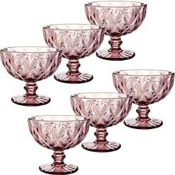 Набор креманок 400 мл Loraine фиолетовый 29672-1 6шт