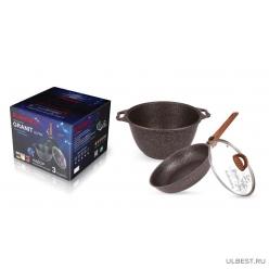 Набор кухонной посуды Kukmara №17 антипригарная линия «Granit Ultra» (Red) нкп17га