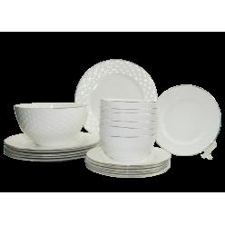 Набор столовый JEWEL Суфле 19 предметов (фарфор костяной)