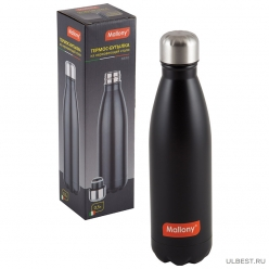 Спортивный термос-бутылка (окрашенный корпус), серия NERO, 0,5 л, тм Mallony