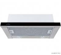 Встраиваемая вытяжка ELIKOR Интегра GLASS 50 нержавейка / черное стекло