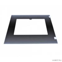 Стекло духовки наружное плиты GEFEST 3200, 3300, черное, с термоуказателем, 498*409 мм (3200.15.3.000)
