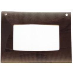 Стекло духовки наружное плиты GEFEST 1200, коричневое, 598*409мм, с термоуказателем (1200.18.2.001-04)