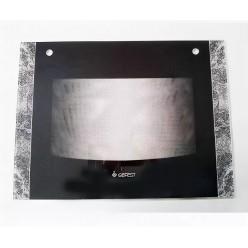 Стекло духовки наружное плиты GEFEST 1300, Гефест 1500, черный мрамор, 598*446мм (1500.18.0.002-01)