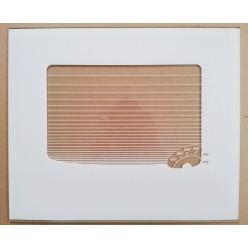 Стекло духовки наружное плиты GEFEST мод. 300, белое, с термоуказателем, 478*402мм (300.04.0.008-10)