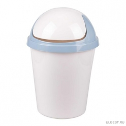 Контейнер для мусора круглый 10л (св. серый) (уп.4) М6993
