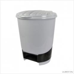 Ведро для мусора с педалью 10л. (серый) М1381