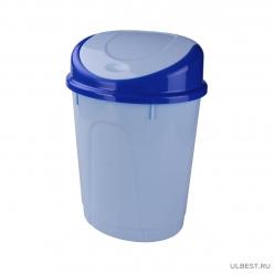 Контейнер для мусора 8л (овальный)(голубой)(уп.5) М1377