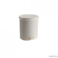 Контейнер педальный для мусора плетенный 12л (код 3901,3902,3903,3904)