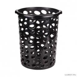 Корзина для мусора Сорренто 12л. (черный) без крышки (уп.10) М6440